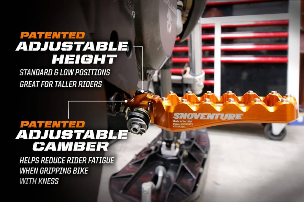 Fastway Snoventure footpegs are also great for taller riders