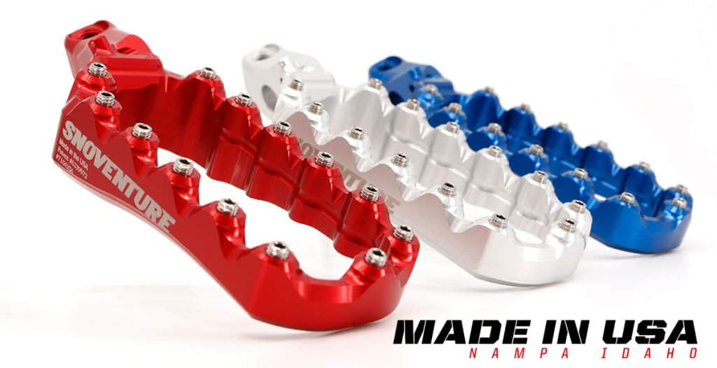 Fastway SNOventure footpegs are Made in the USA